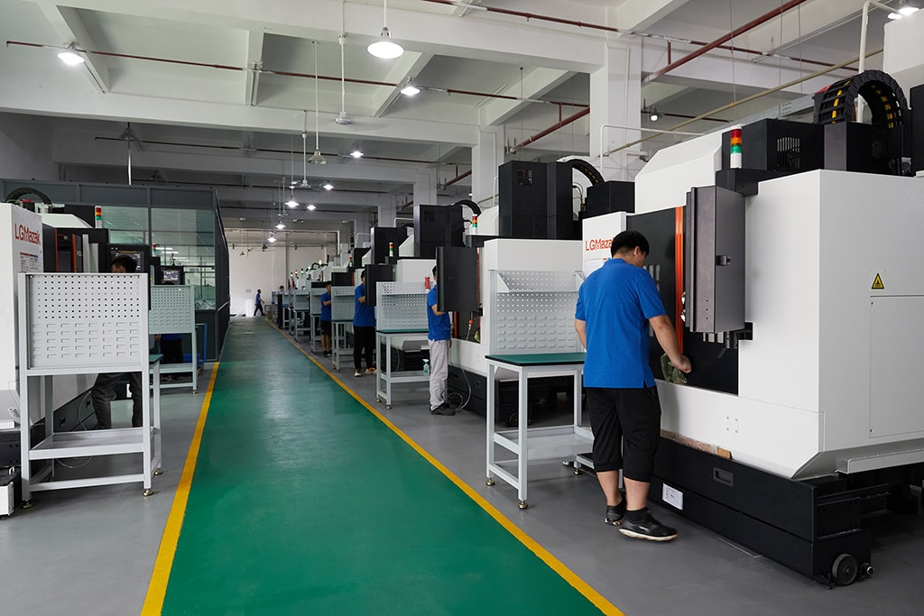 3 axis,4 axis, and 5 axis CNC Machining workshop of Machining Services